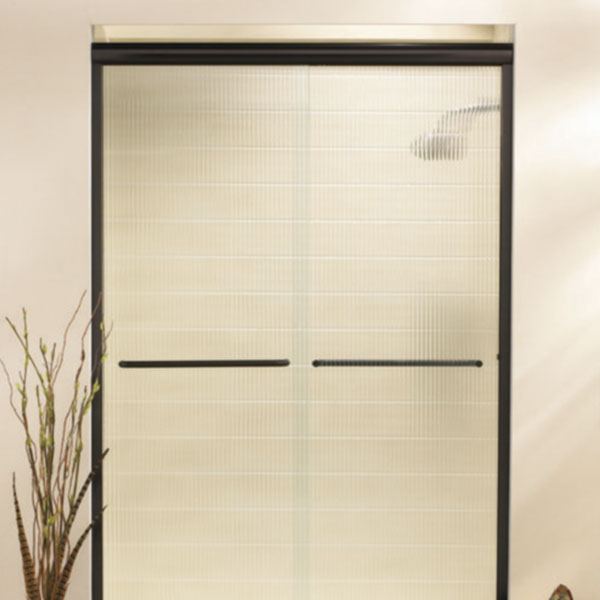 Semi Frameless sliding shower door.